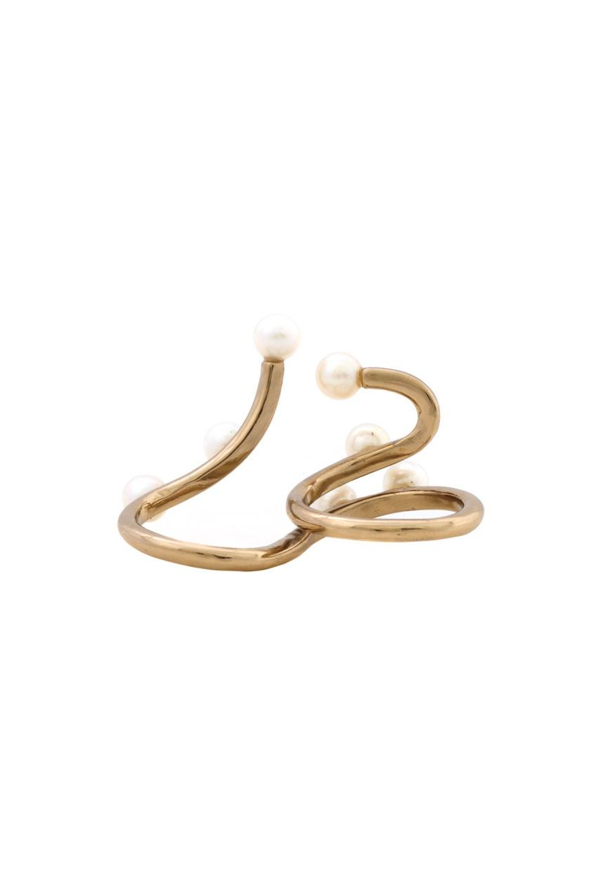 Кольцо из бронзы с жемчугом от AIZEL