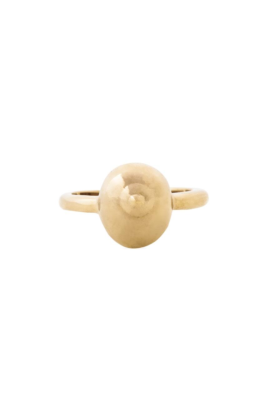 Кольцо из латуни с золотым напылением от AIZEL